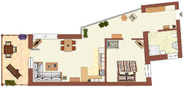 warnem nde ostsee ferienwohnung wintergarten appartement. Black Bedroom Furniture Sets. Home Design Ideas